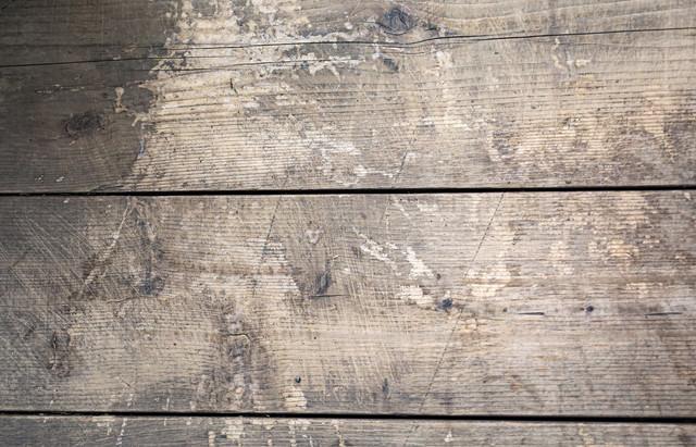 汚れた木目板(テクスチャ)の写真