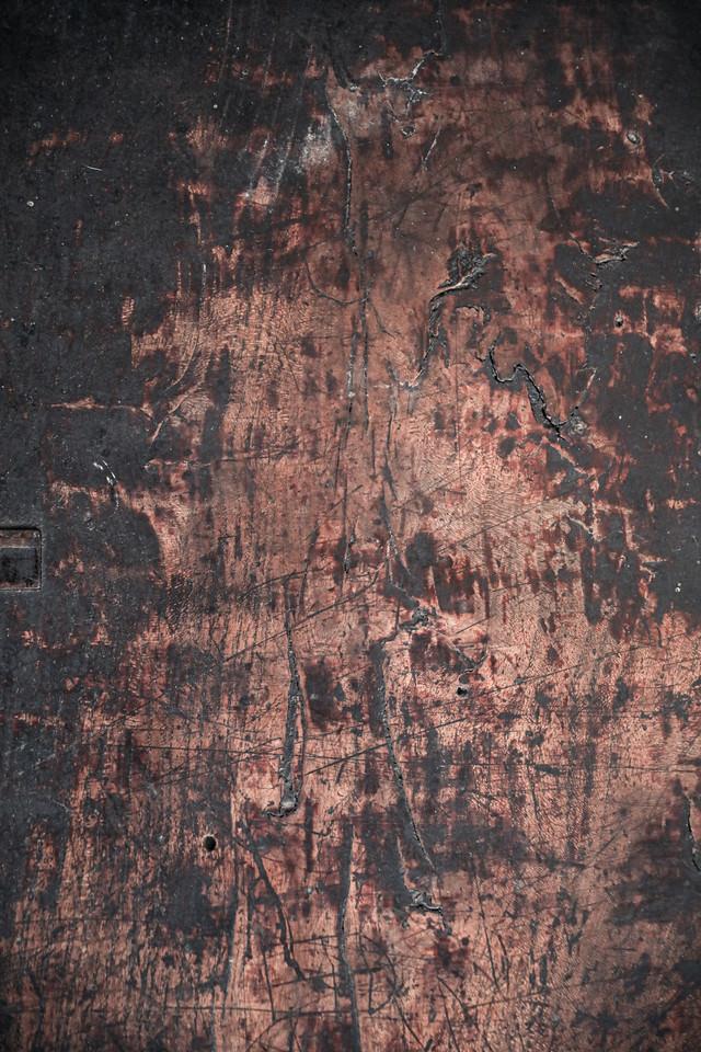 焦げた木目板(テクスチャ)の写真
