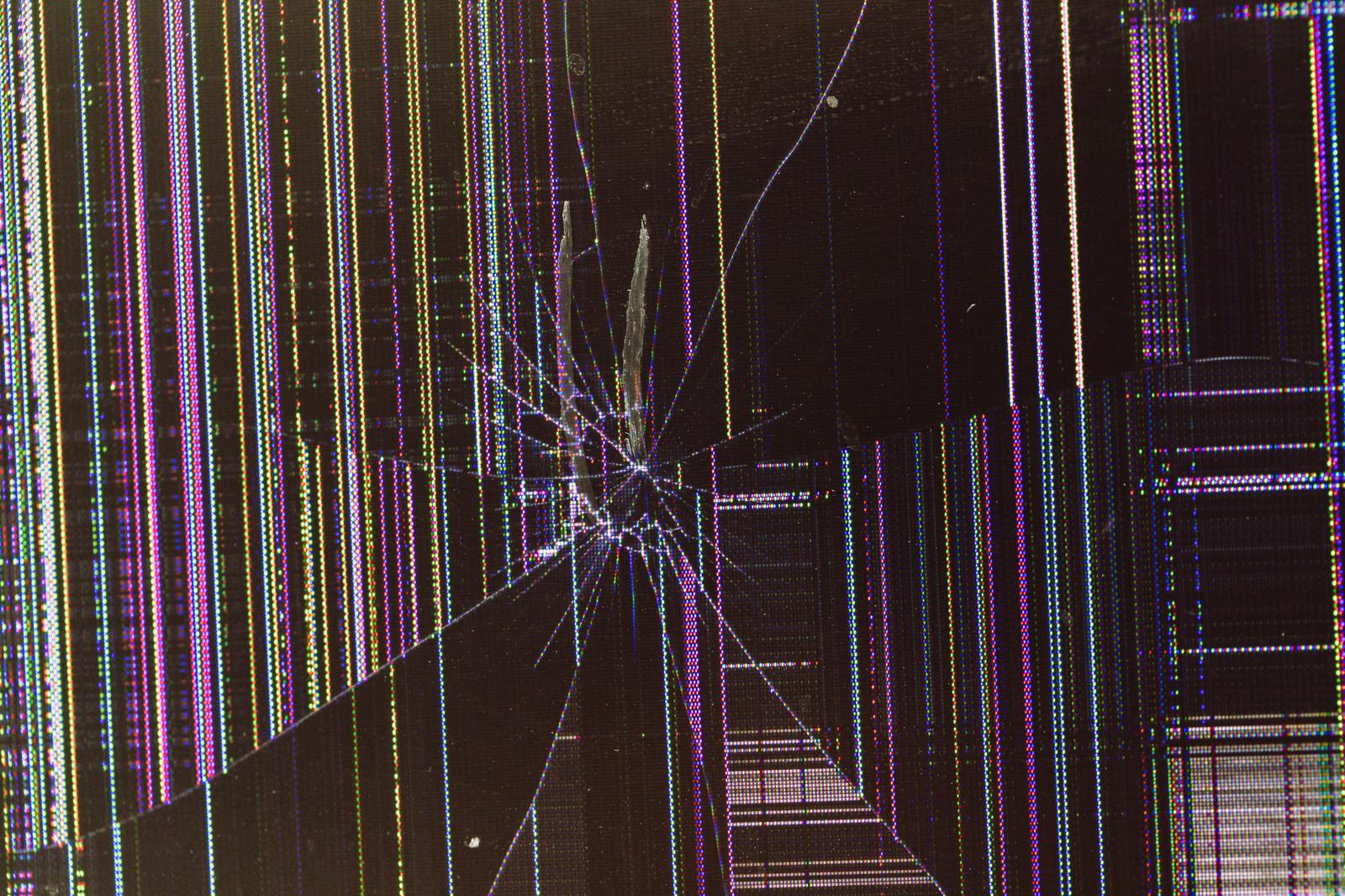 「この画像を全画面表示したら確実に破損した液晶モニターだと思われる」の写真