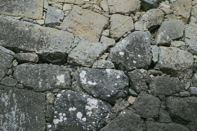 石垣の城壁(テクスチャ)の写真