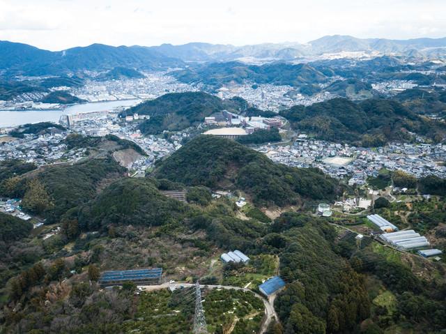 鳴鼓岳からの景観(時津町)の写真