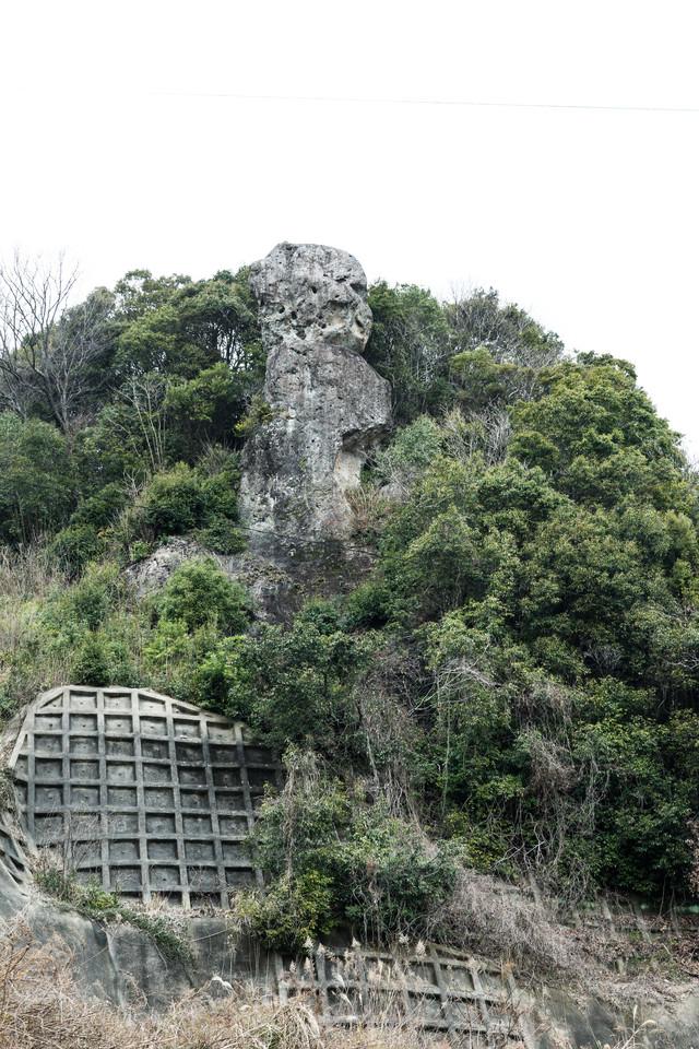 鯖くさらかし岩は落ちない奇岩の写真