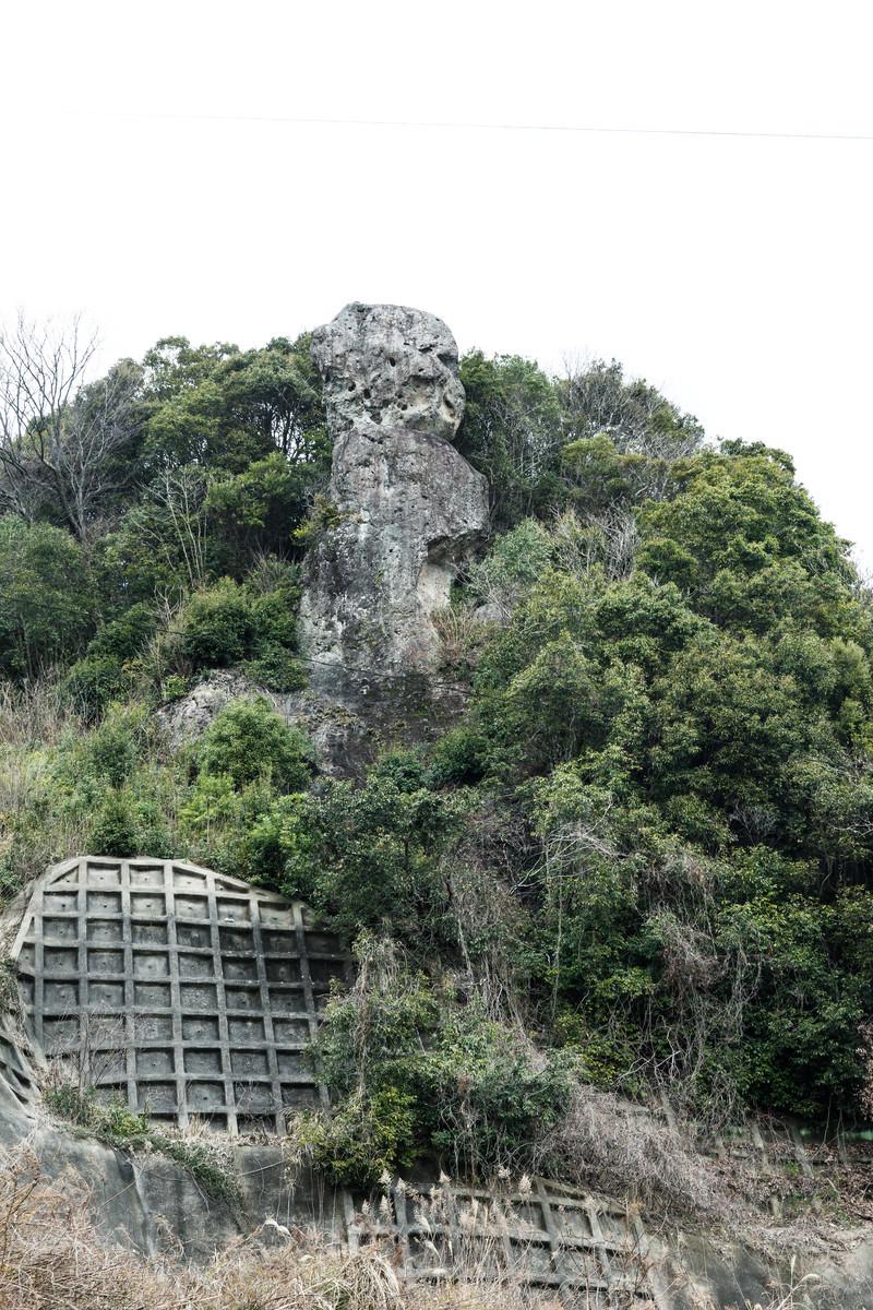 「鯖くさらかし岩は落ちない奇岩」の写真