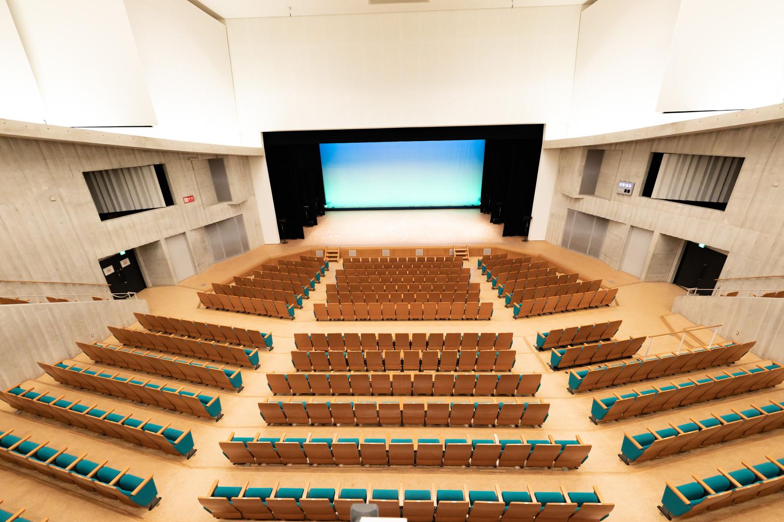 「とぎつカナリーホール(2階席から)」の写真