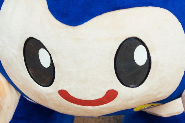 時津町のゆるキャラ「とっきー」の顔の写真
