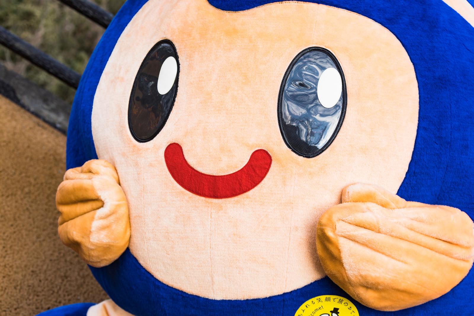 「時津町のゆるキャラとっきー喜ぶ」の写真[モデル:とっきー]