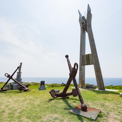 「戦艦大和慰霊塔の様子」の写真素材
