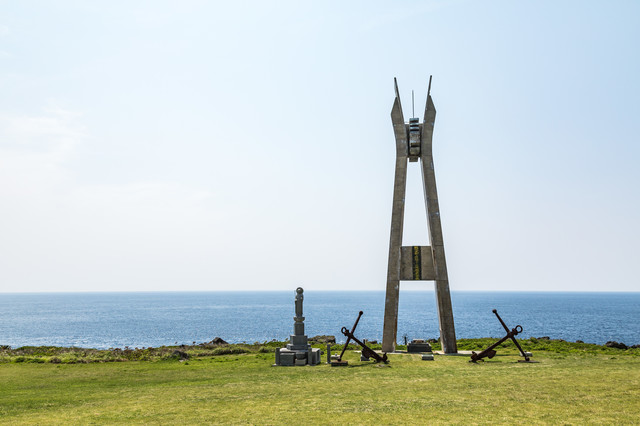 犬田布岬の戦艦大和慰霊塔の写真
