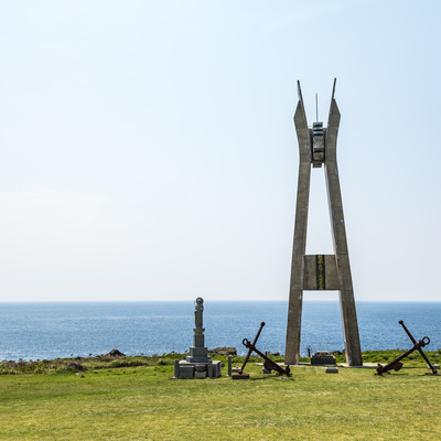 「犬田布岬の戦艦大和慰霊塔」の写真素材