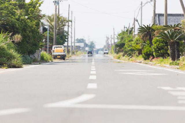 旧陸軍浅間飛行場滑走路跡(現・平和通り)の写真