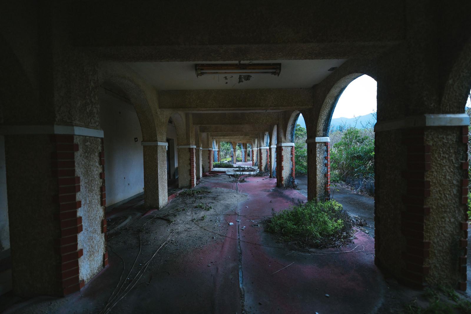「徳之島ニューオータニ・ホテル 廃墟の様子」の写真