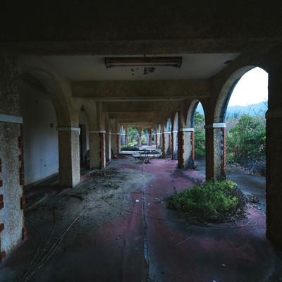 徳之島ニューオータニ・ホテル 廃墟の様子の写真