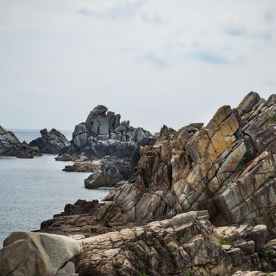 「花崗岩の海岸線「ムシロ瀬」」の写真素材