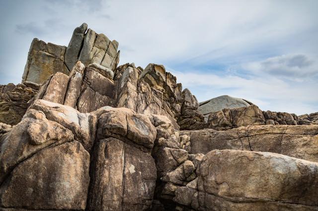 花崗岩の巨岩(ムシロ瀬)の写真