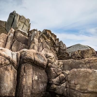 「花崗岩の巨岩(ムシロ瀬)」の写真素材