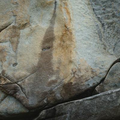 ムシロ瀬の岩石の面の写真