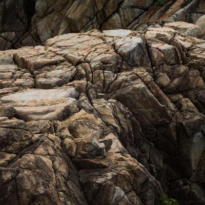 「不思議な形をするムシロ瀬の花崗岩」の写真素材