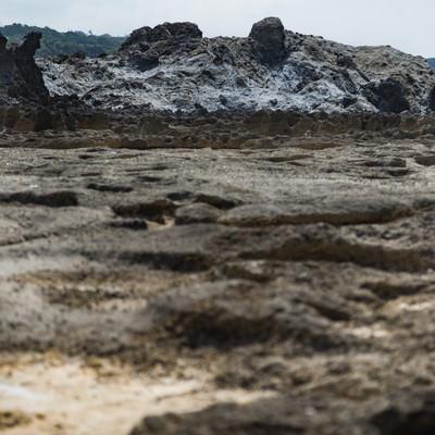 「犬田布海岸のメランジ堆積物」の写真素材