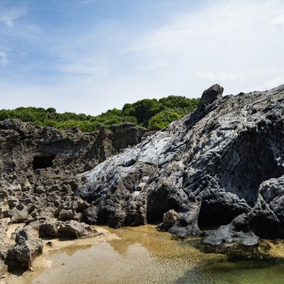 「犬田布海岸のメランジ堆積物(県指定天然記念物)」の写真素材