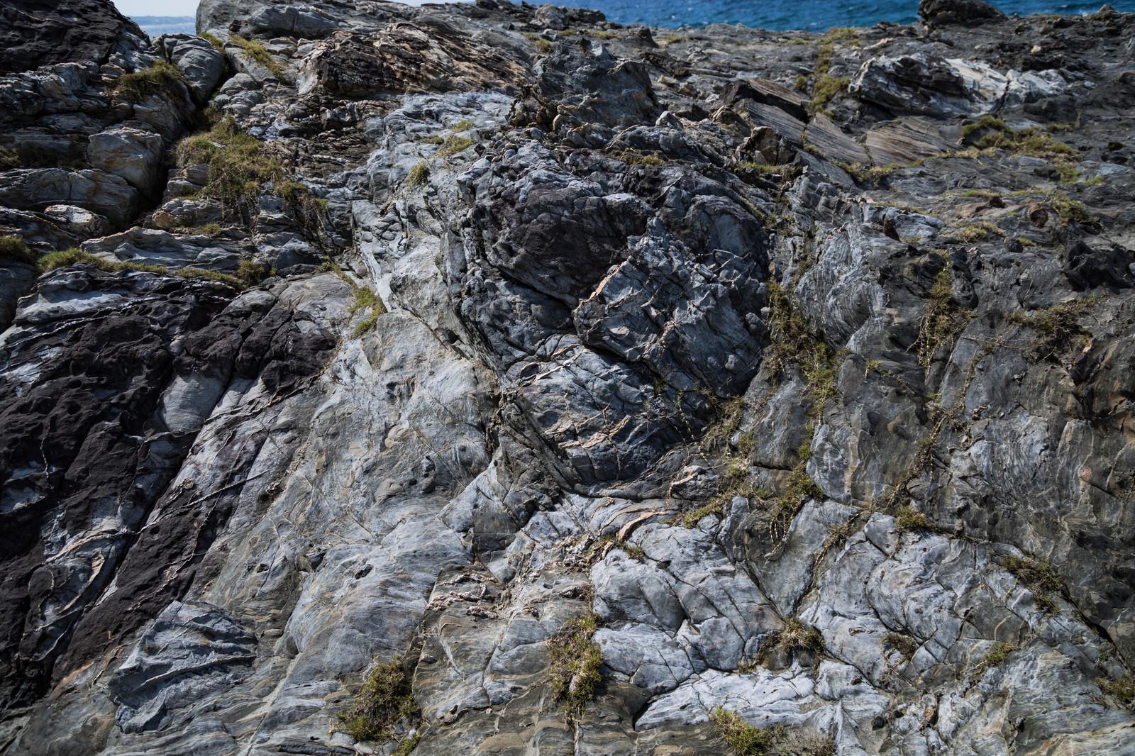 「泥岩のメランジ堆積物」の写真