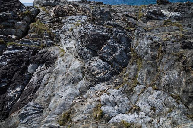 泥岩のメランジ堆積物の写真