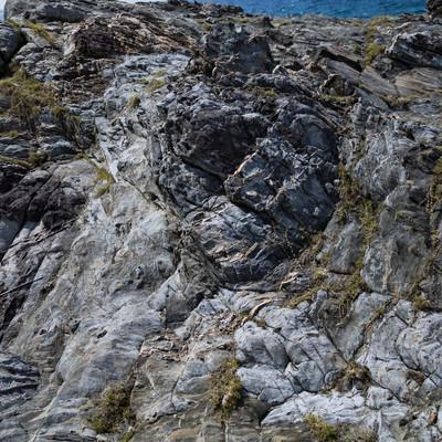 「泥岩のメランジ堆積物」の写真素材