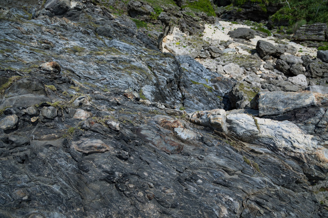 メランジ(メレンゲと同義)堆積物の写真