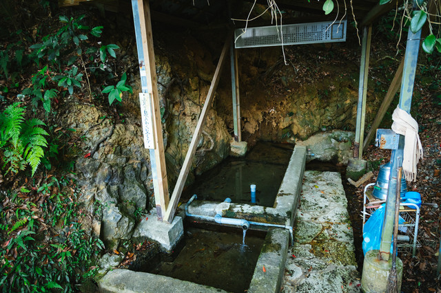 徳之島随一の湧き水。東又泉(アガリマタイジュン)の写真