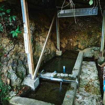 「徳之島随一の湧き水。東又泉(アガリマタイジュン)」の写真素材
