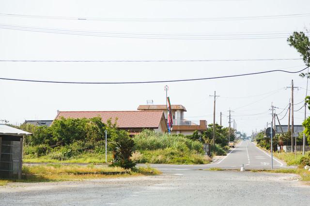鹿児島県大島郡天城町にある旧陸軍浅間飛行場滑走路跡の様子の写真