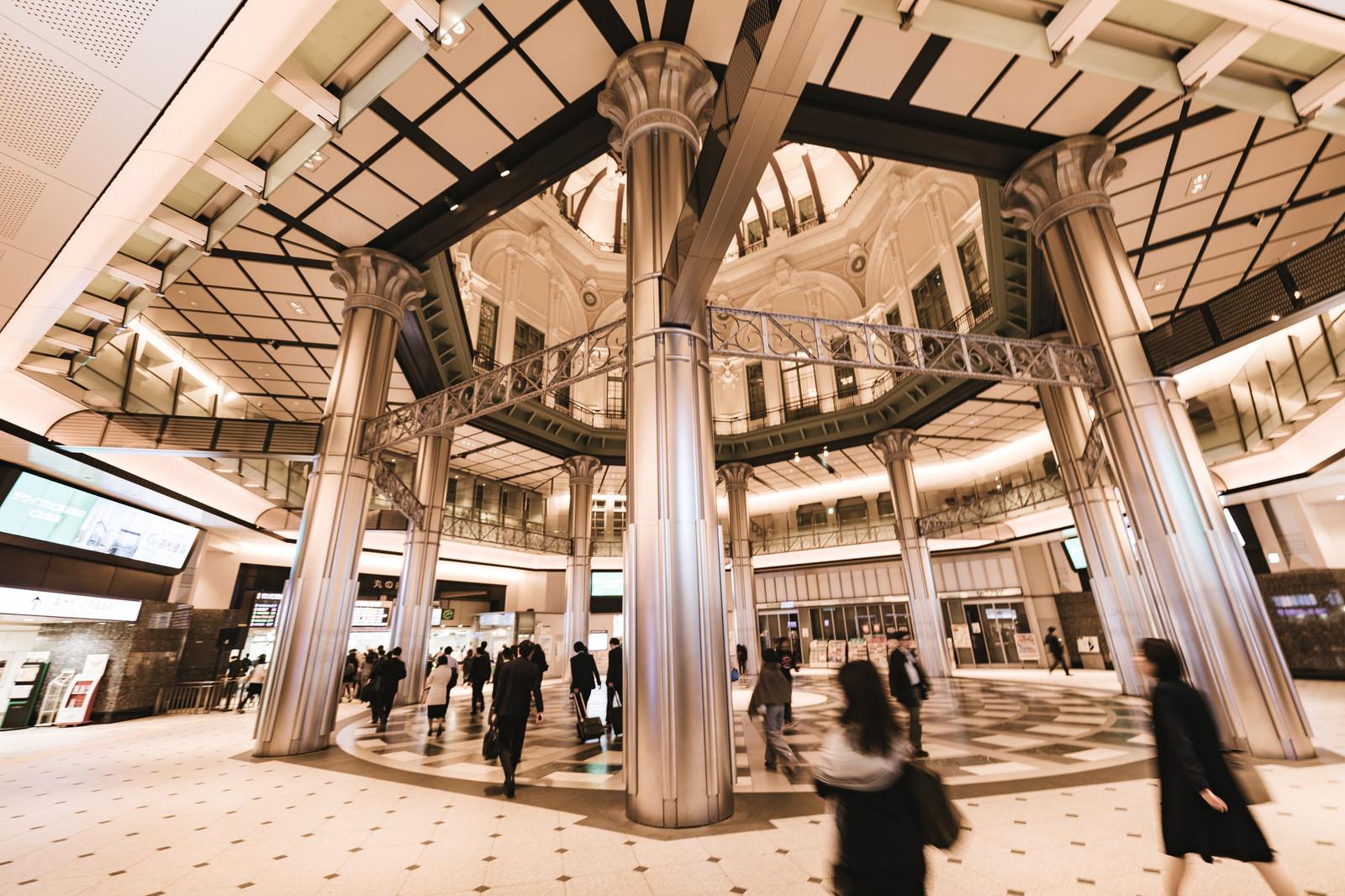 「東京駅丸の内口改札構内」の写真