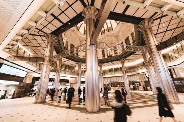 東京駅丸の内口改札構内の写真