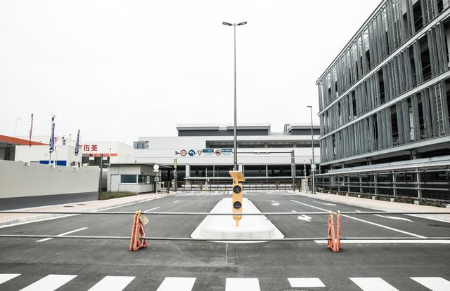 立ち入りできない豊洲市場入口(青果東門前)の写真