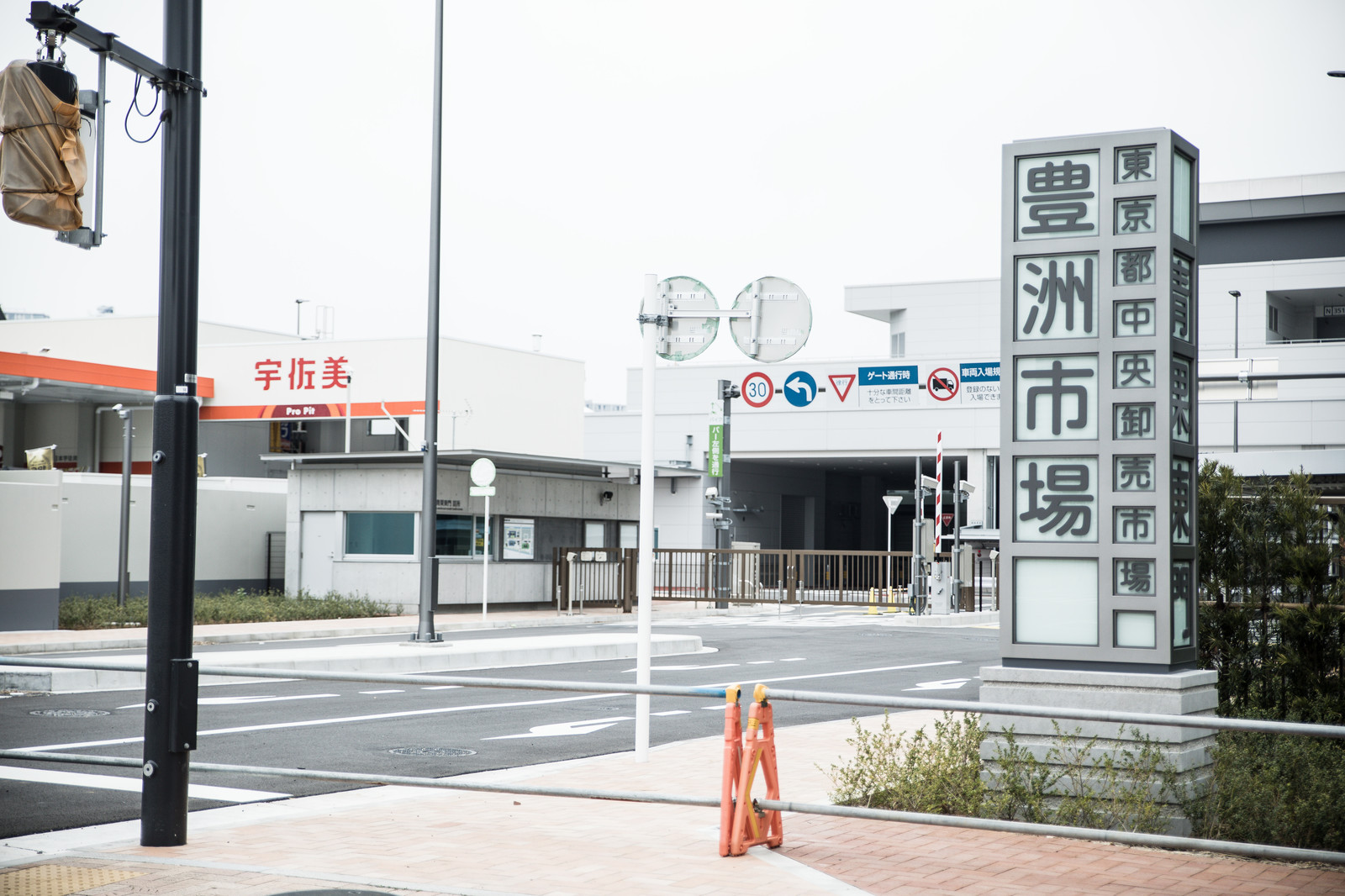 「豊洲市場の青果東門前」の写真
