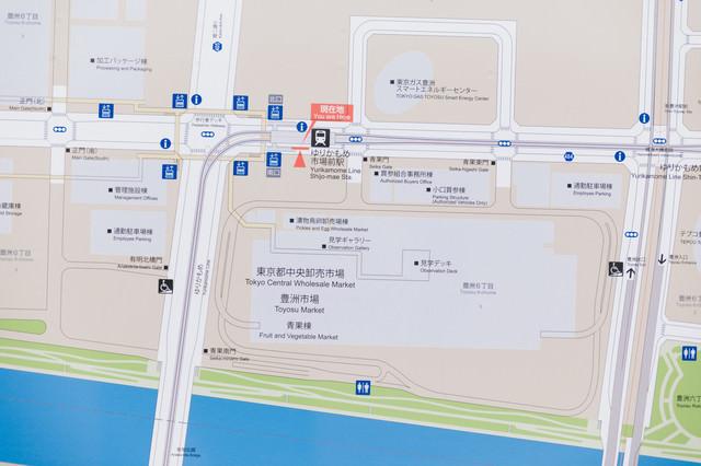 ゆりかもめ市場前駅のマップの写真