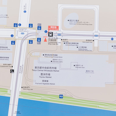 「ゆりかもめ市場前駅のマップ」の写真素材