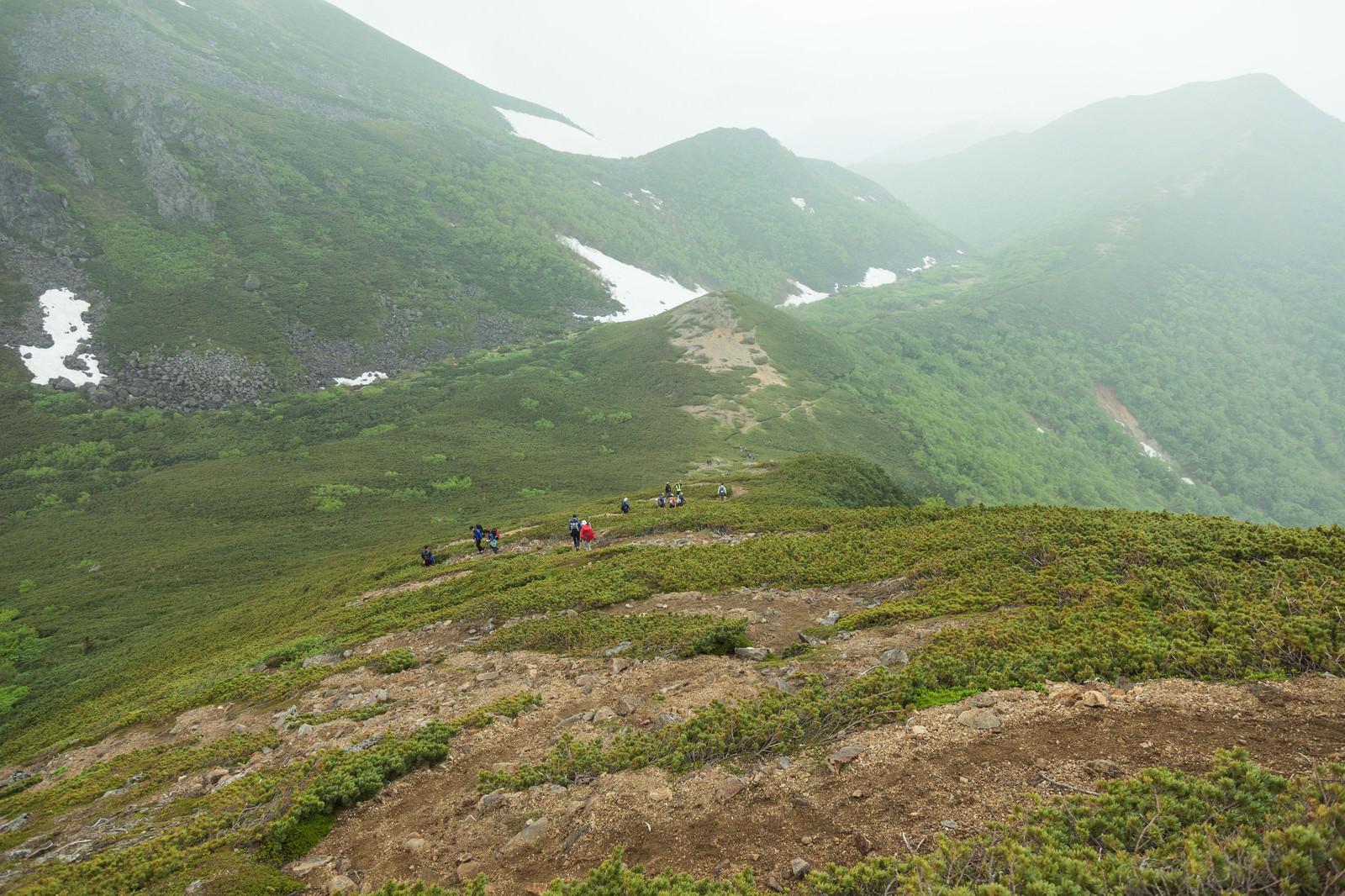 「ジグザグの登山道を下山する | 写真の無料素材・フリー素材 - ぱくたそ」の写真
