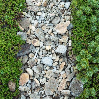 「石の道(乗鞍新登山道)」の写真素材