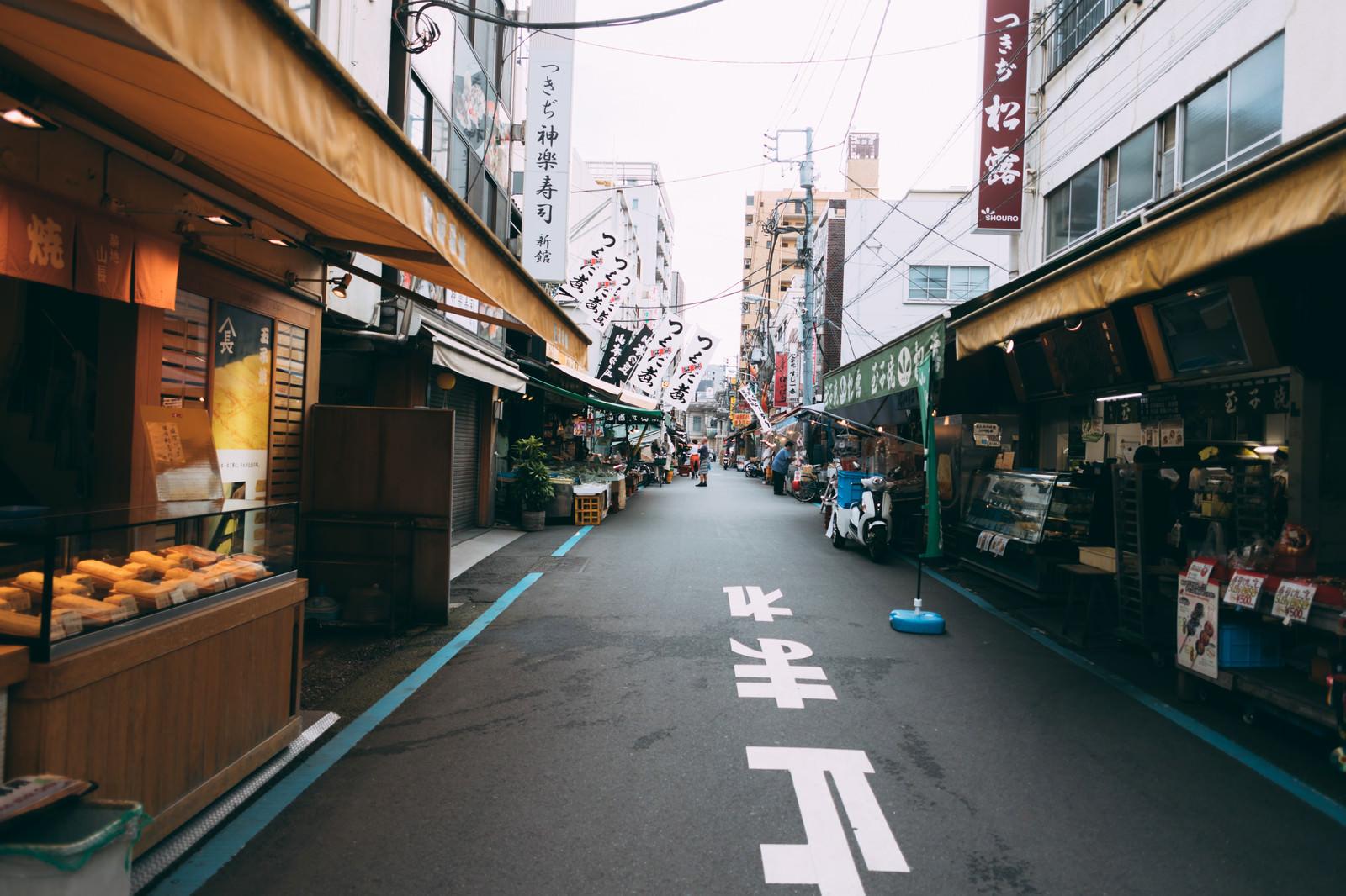 「築地の商店街」の写真