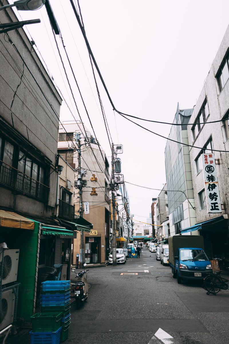 「築地市場辺りの街並み」の写真