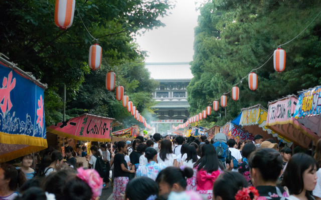 曹洞宗大本山總持寺のお祭りと屋台の写真