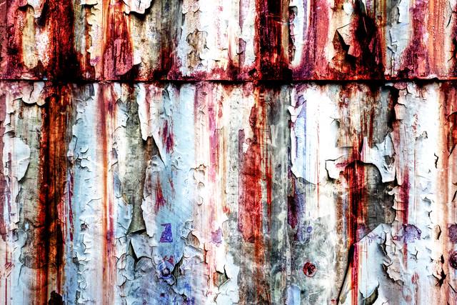 裏世界の錆た壁(フォトモンタージュ)の写真