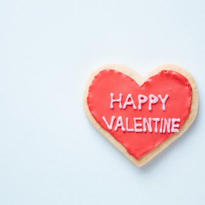 HAPPY VALENTINE(ハートのクッキー)の写真