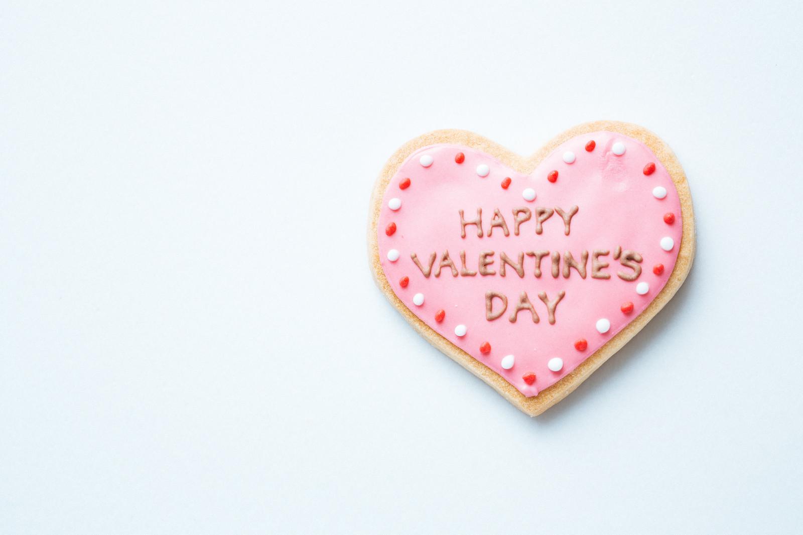 「HAPPY VALENTINE'S DAY(ハートのクッキー)」の写真