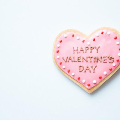 HAPPY VALENTINE'S DAY(ハートのクッキー)の写真