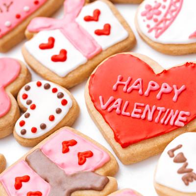 バレンタインのハートクッキーの写真