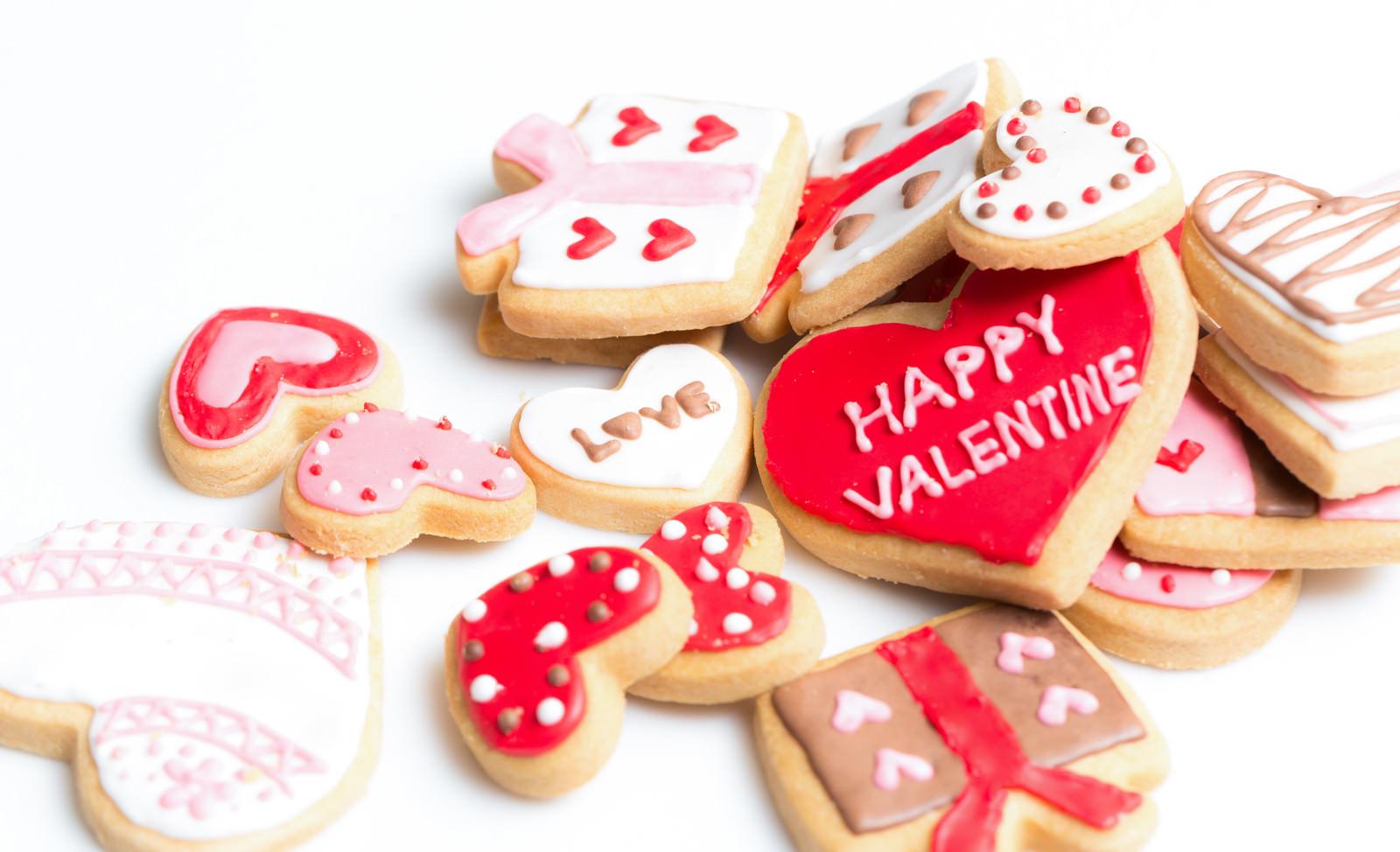 「ハッピーバレンタイン(アイシングクッキー)」の写真
