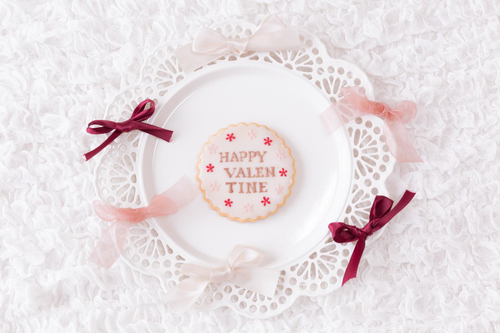 「HAPPY VALEN TINE のクッキー」の写真