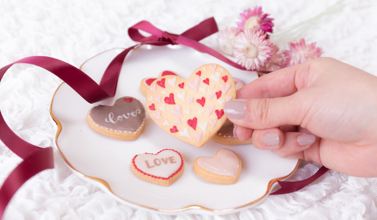 「ハートのクッキーに願いを込める(告白)」の写真