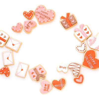 バレンタインに使えるハート型クッキーの写真